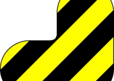 Tvåfärgad Golvmarkering hörn (DM120YE/BK, DM121YE/BK)