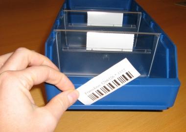 Etikettskydd för lagerlådor med etikett (ESE)