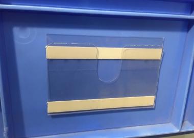 Korthållare för lagerlådor med skumtejp (KPU)