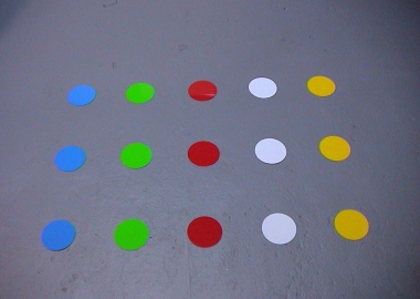 Different color floor marker