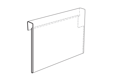 Korthållare, etiketthållare för pallkrage A4/A5 (KPS)