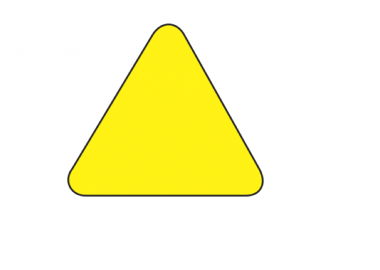 Triangel golvmärkning gul (DM110)