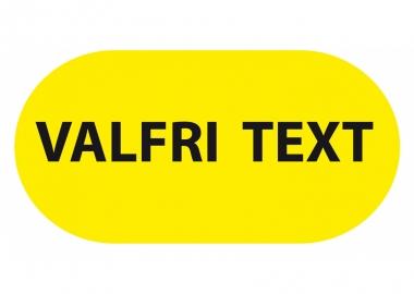 Oval golvmärkning med text
