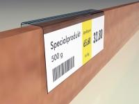 Etiketthållare passar bla industrihyllor från Metalsistem, AJ-Produkter