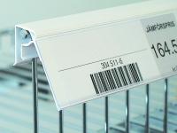 Etiketthållare trådhylla