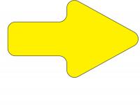 Golvmarkering gul pil