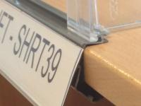 Vinklad etiketthållare metallhylla (SHRT)