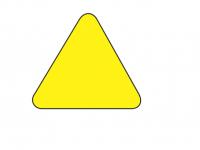 Triangel golvmärkning
