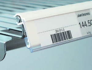 etiketthållare för trådhylla