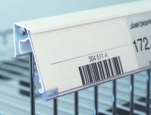 etiketthållare hyllkantslist