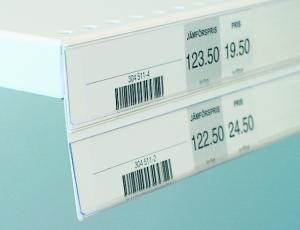 dubbel etiketthållare