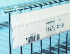 etiketthållare med clips